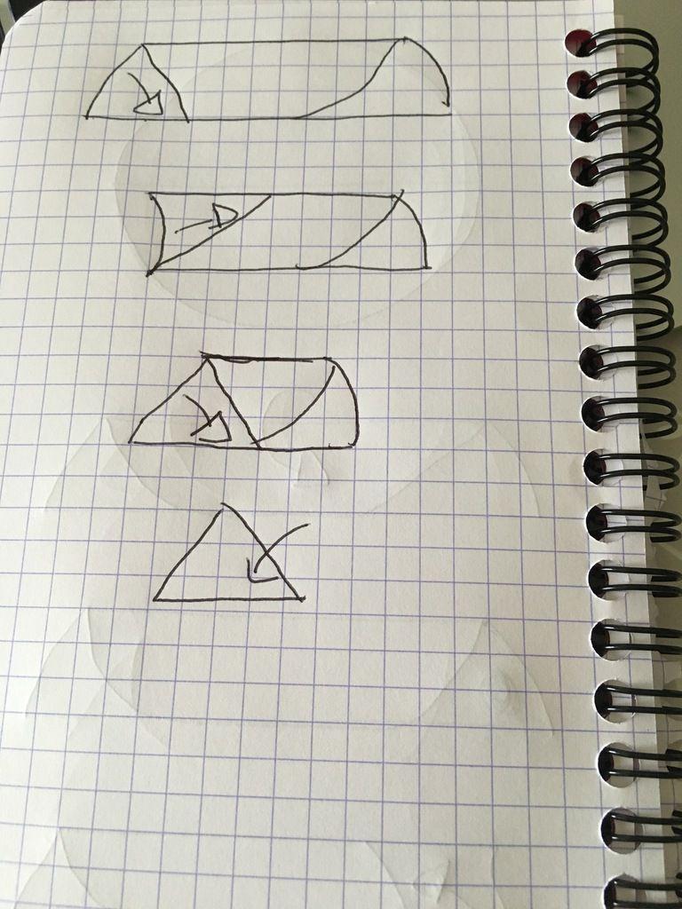 Il sait enfaite juste de plier en triangle un coup en haut un coup en bas. Et en dernier de glisser ce qui dépasse pour dépasse à l'intérieur du pliage