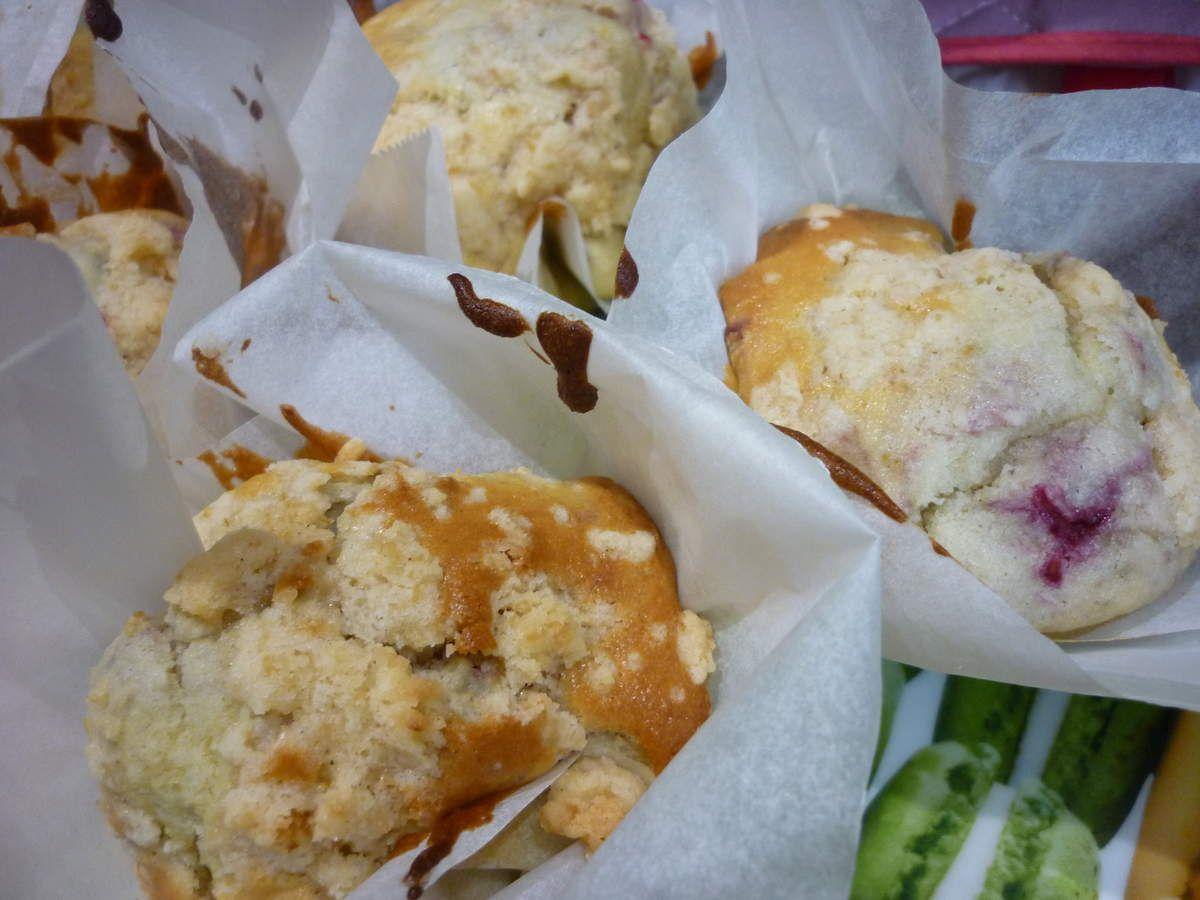 Muffins crumble framboises