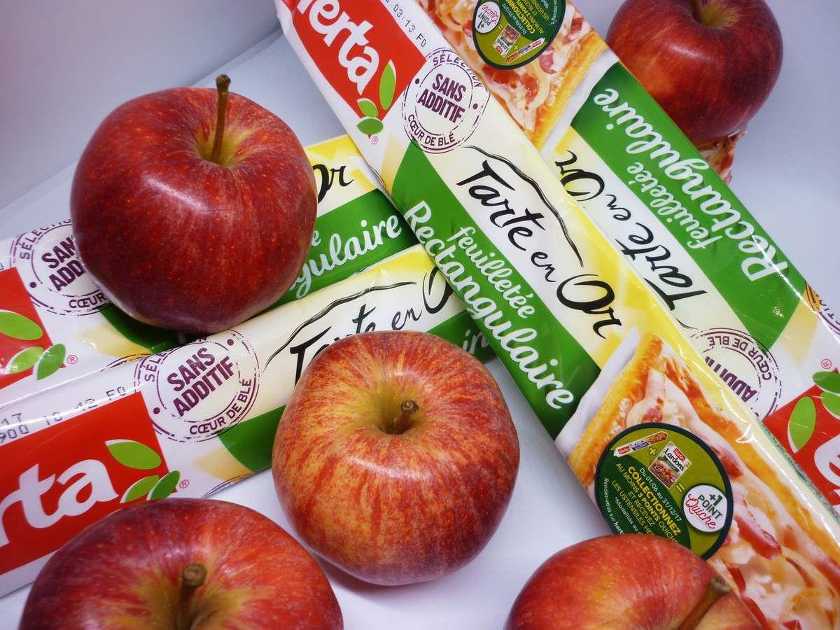 Roses aux pommes feuilletées