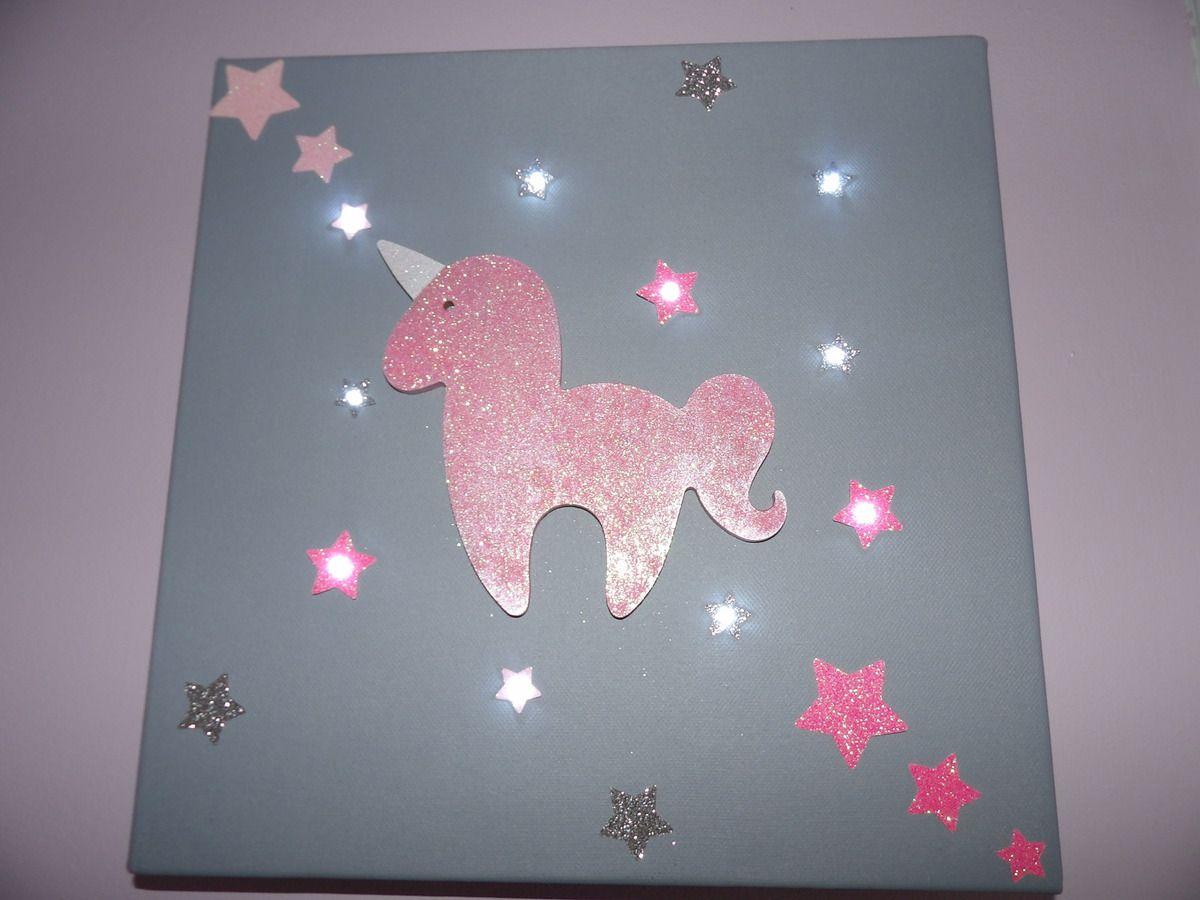 Mon tableau Licorne Lumineux  Blog Maman Une Super Maman ou pas