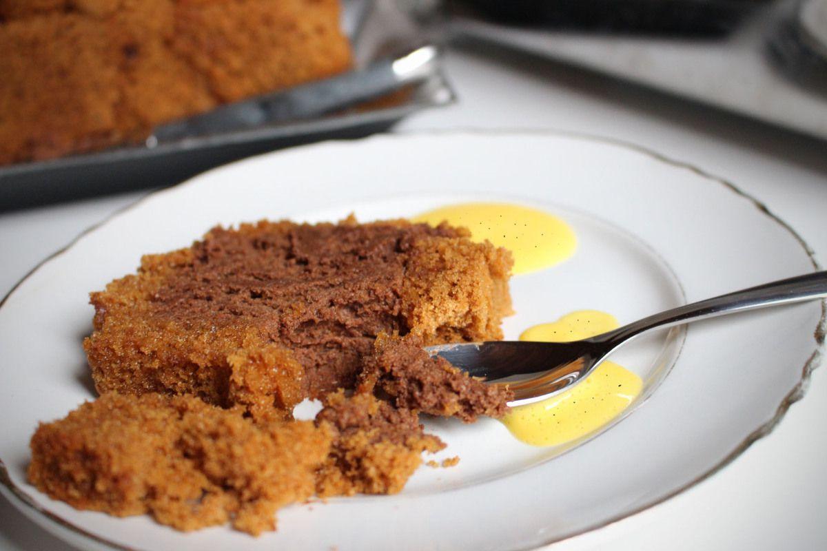 buche marquise au chocolat et pain d