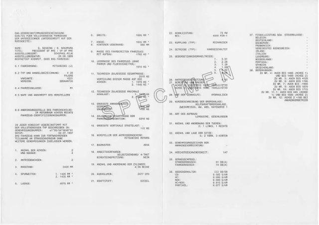 Certificat de conformité italien valable en France