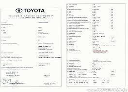 Certificat de Conformité Toyota Gratuit sur www.euro-conformite.com