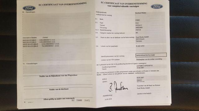 Certificat de Conformité Ford Gratuit  sur www.euro-conformite.com