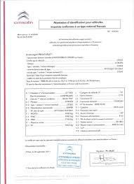 Demande de certificat de conformité Citroen Gratuit