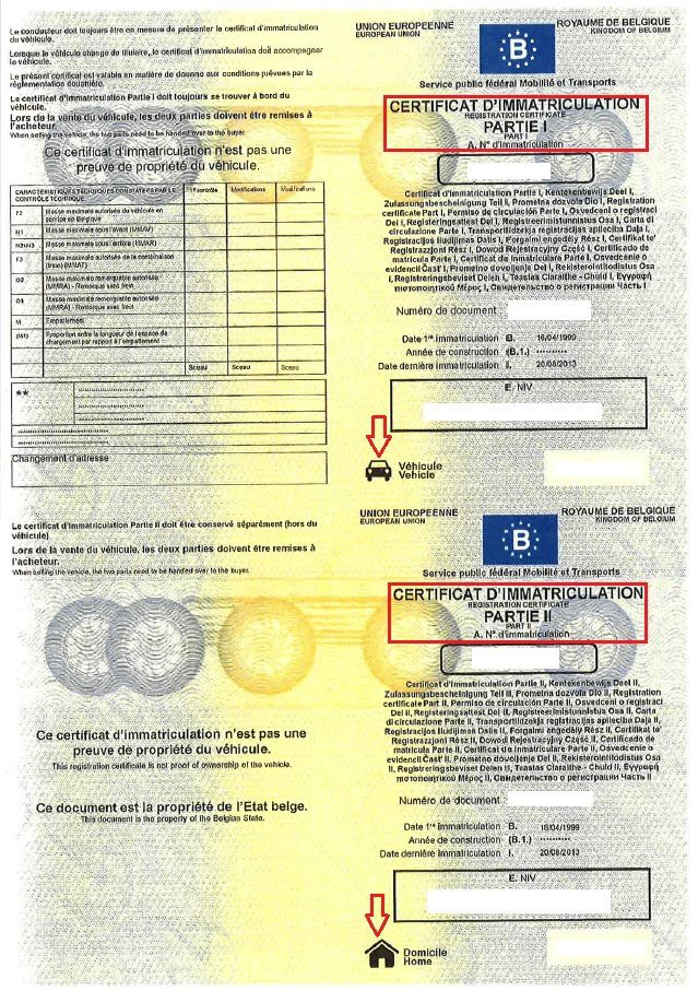 Formalité pour l'importation et l'immatriculation d'un véhicule étranger en Belgique