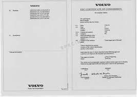 Obtenir un Certificat de Conformité Volvo