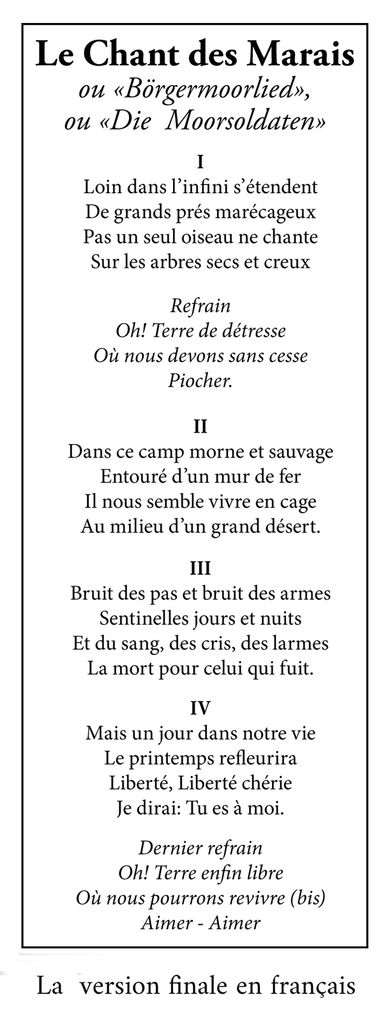 Chant Des Marais Paroles : chant, marais, paroles, Chant, Marais, Déportés, ADIRP, 37-41