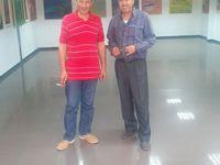 Rencontre du Poète Mhamed Hassani avec l'artiste peintre Ouchen Smail