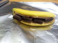 Un dessert bien gourmand: banane au chocolat !