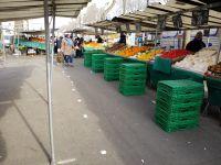Marché de  Ménilmontant (1), marché de Belleville (3) (20/03/20).