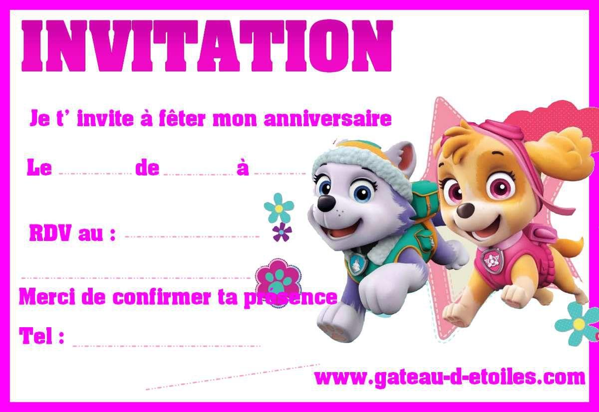 invitations gratuites pat patrouille