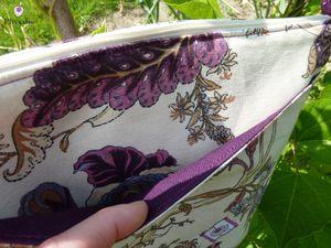 Sac à fleur violette