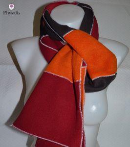 Comment utiliser ses chutes de tissus 5 - les écharpes en polaire