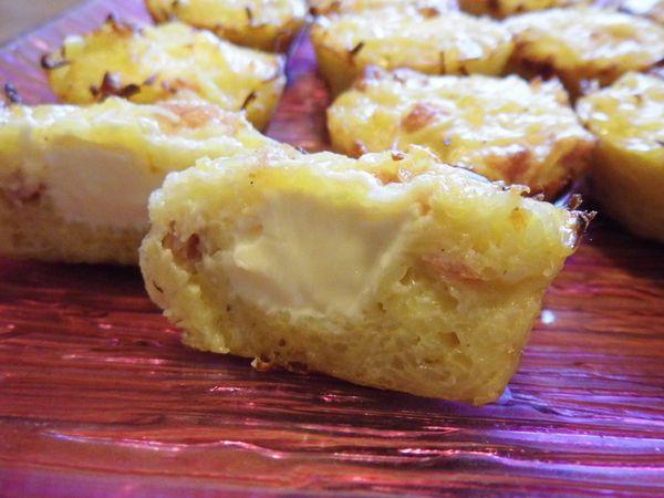 Gâteau de pomme de terre/kiri/jambon