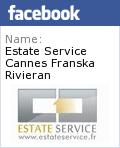 Badge Facebook Estate Service Cannes Provence Franska Rivie