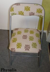 chaise recouverte