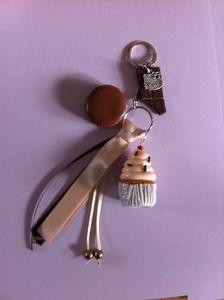 Bijoux de sac Cupcake et Hello Kitty