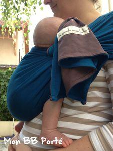 PESN bleu canard/marron glacé et bébé de 2 mois