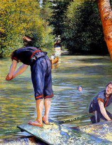 Caillebotte - Baigneur s'apprêtant à plonger