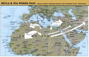 Extension de l'islamisme libyen