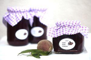 weinbergpfirsichmarmelade - gläser