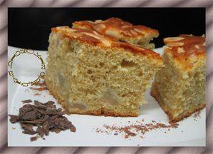 cake millet et poires