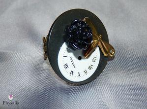 bague libellule horloge