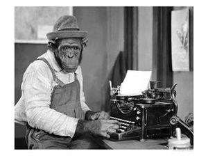 écrivain chimpanzé