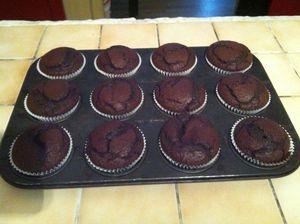cupcakes extreme chocolat sortis du four