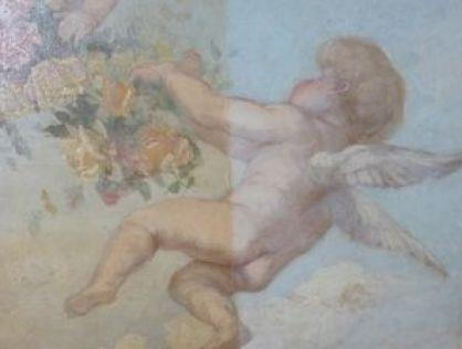 P1090376 Maison Mousset: restauration de peintures murales