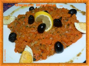 salade carotte à la tunisienne