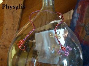 collier torsadé rouge et mauve3