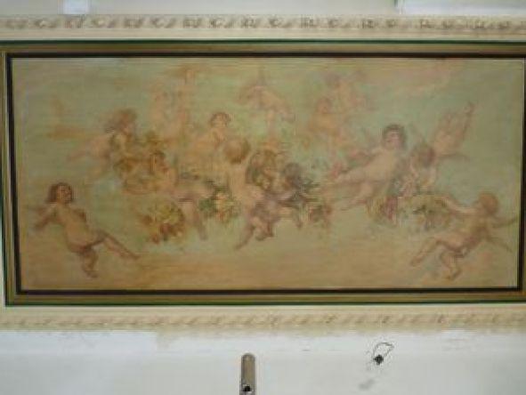 P1070573 Maison Mousset: restauration de peintures murales