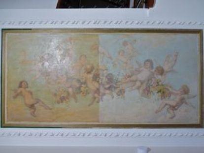 P1090386 Maison Mousset: restauration de peintures murales