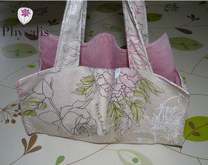 sac à cake lin et rose