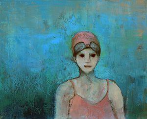 BESSON GIRARD Jocelyne 65 S Baigneuse au bonnet rose 2011[2