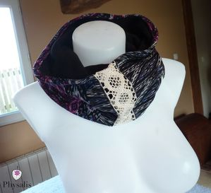snood violet noir