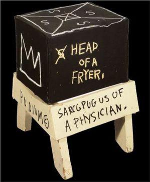 34 Basquiat sculpteur 82 Tête d'une friteuse coll privée
