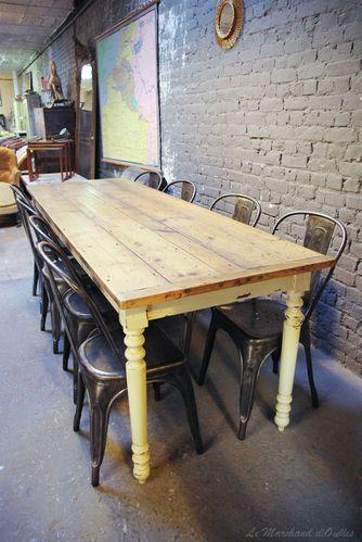 table cuisine bois brut