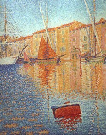 Paul Signac La bouee rouge-light