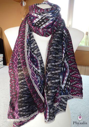 foulard violet gris