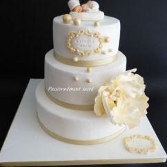 Pole 4 Passion Star Bus Network Topology Diagram Circoncision (blanc & Or) (gâteau/cupcakes Et Macarons) - Passionnément Sucré