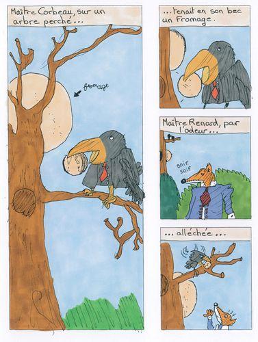 Le Corbeau Et Le Renard Bd : corbeau, renard, Corbeau, Renard, Kerrian, Landivisiau