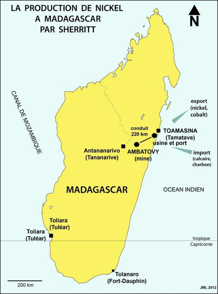 Carte Nickel Madagascar.Sherritt Considering Full Exit From Madagascar Mine Project