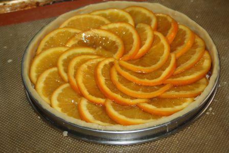 tarte à l'orange