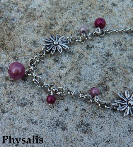 bracelet fleur et perle détail 2