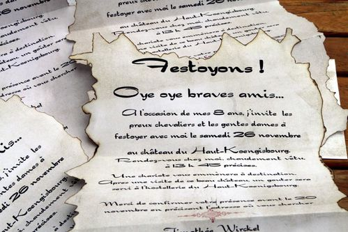 les invitations pour les 8 ans de mon petit chevalier le blog de vanou