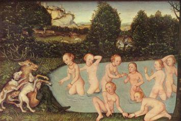 Cranach l'Ancien a également peint un tableau, Diane et Actéon, au XVI ème siècle.