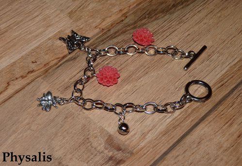 bracelet fleur corail